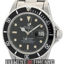 Rolex Submariner Transitional Stainless Steel Matte Black Dial