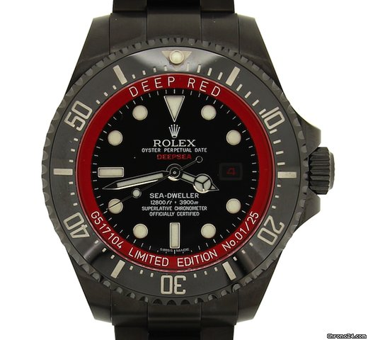 Rolex Quot Deepsea Quot Deep Red Monaco Limited Edition 01 25 Sold