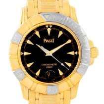 Piaget Polo Key Dive 18k Yellow And White Gold Mens Watch 25020