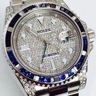 Rolex GMT MASTER II Ref. 116710 Schwarz Blau BLNR Diamond...