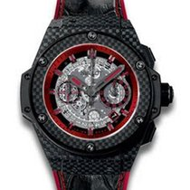 Hublot King Power Unico Mens 48mm Automatic in Carbon Fiber Case