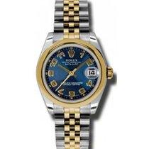 Rolex Datejust Ladies Midsize 178243-BLUCAJ Blue Concentric...