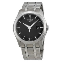Tissot Couturier Black Dial Stainless Steel Men's Watch