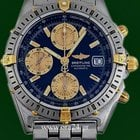 Breitling Chronomat Automatic Chronograph Gold Steel Box&P...