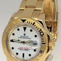 Rolex Yacht-Master 18k Yellow Gold White Dial Watch Yachtmaste...