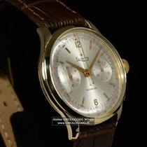 LEVRETTE Chronograph Incabloc anni '50 Oro giallo Valjoux 23
