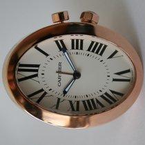 Cartier ROSE GOLD REISEWECKER TISCHUHR TRAVEL ALARM CLOCK 3111