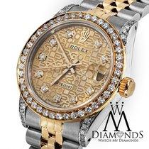 Rolex Mid-size Ladies Rolex 78273 Datejust 2 Tone 31mm Jubilee...