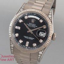 Rolex Oyster Perpetual Day-Date 18K/750 Weißgold-Diamanten...