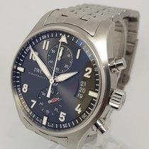 IWC Pilot Spitfire Chronograph 43mm Mens Steel Watch Full Set