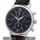IWC Portofino Collection Chronograph Stainless Steel Black...