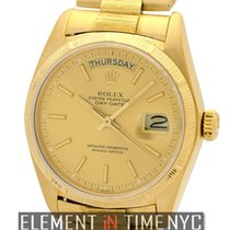Rolex Day-Date President Bark Finish 18k Yellow Gold Ref. 18078