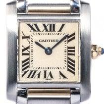Cartier Tank Francaise PM kleines Modell Stahl Gelbgold Quarz...