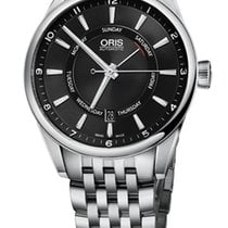 Oris Artix Pointer Day, Date, Black Dial, Steel Bracelet