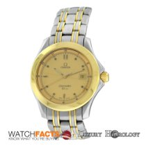 Omega Authentic Men's  Seamaster 36mm Date 18K Gold &...