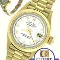 Rolex DateJust President 26mm 69178 18K Yellow Gold White Roman