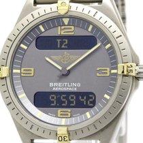 Breitling Polished Breitling Aerospace 18k Gold Titanium...