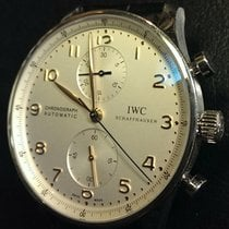 IWC Portuguese Chronograph Gold Hands.