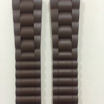 Chaumet Brown Rubber Strap 22 x 18 mm