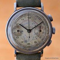 Lemania 15TL 1930's OVERSIZED 37.5MM TWO REGISTER ENAMEL...