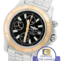 Breitling SuperOcean Chronograph 44 C13341 Black 44mm 18K Rose...