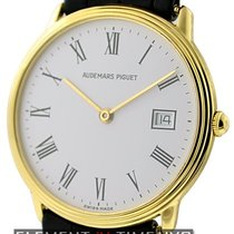 Audemars Piguet Classic Dress Watch 18k Yellow Gold White Dial...