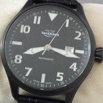 Tavannes TA-VON Pilot Gents stainless steel PVD Black plated...
