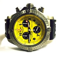 Breitling Chrono Avenger M1 Yellow Dial Titanium Swiss Quart