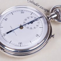Patek Philippe VERY RARE SILVER OPENFACE STOP WATCH CHRONOGRAP...