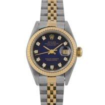 Rolex Datejust Ladies Steel/Gold, Blue Diamond Dial 69173...