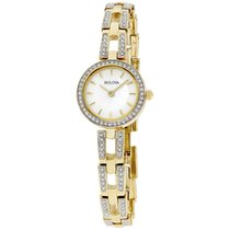 Bulova Women's 98l213 Crystal Analog Display Quartz Gold...