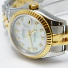 Rolex 18k/SS Lady Datejust Mother of Pearl Dial ~ 179173