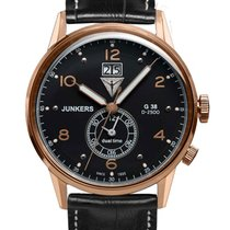 Junkers 6942-5 G38 Dual-Time Herrenuhr 42mm 10ATM