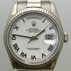 Rolex 18k White Gold Day-Date Mens Watch
