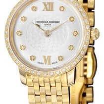 Frederique Constant Slim Line Mini Gold Plated Steel Womens...