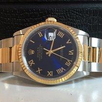 Rolex Datejust Ouro & Aço 36mm Blue Dial Completo Impecável