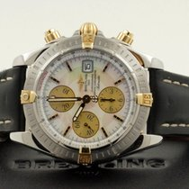 百年靈 (Breitling) Chronomat Evolution Gold Steel Pearl Dial 44...