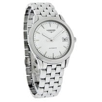 Longines Flagship Mens White Date Dial Swiss Automatic Watch...