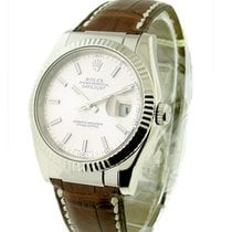 Rolex Used Mens Datejust White Gold on Strap 116139