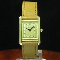 Cartier Tank Argent 925 Silber Vergoldet Damenuhr / Ref 3...