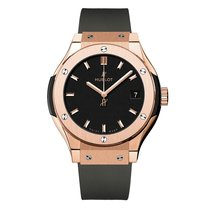 Hublot Classic Fusion 33mm Quartz 18K Rose Gold Mens Watch Ref...