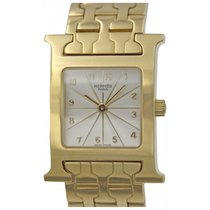 Hermès Ladies Hermes H Hour 18k Yellow Gold Quartz Watch HH1.285