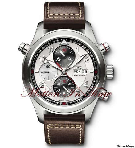 IWC PILOTS SPITFIRE DOUBLE CHRONOGRAPH STEEL 44mm