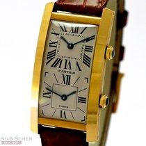 Cartier Tank Cintree Dual Time 18k Yellow Gold Manual Bj-1990
