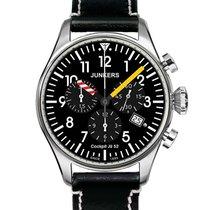 Junkers Cockpit Ju52 Swiss Quartz Chronograph Watch Black Dial...
