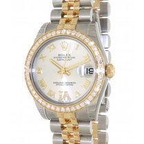 Rolex Datejust 178383 In Gold And Steel With Diamond, 31mm