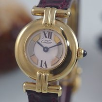 Cartier Argent Vermeil Ronde Lady 925 Er Silber Vergoldet...