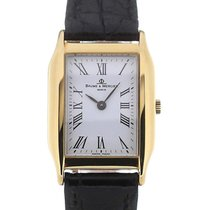 Baume & Mercier Classic Vintage Rectangle Gold Quarz
