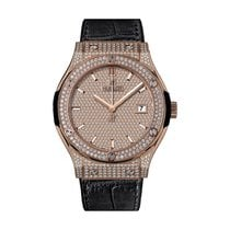 Hublot Classic Fusion 42mm Automatic 18K Rose Gold Mens Watch...