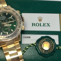 Rolex Daytona 18K Yellow Gold Green Dial New in Box
